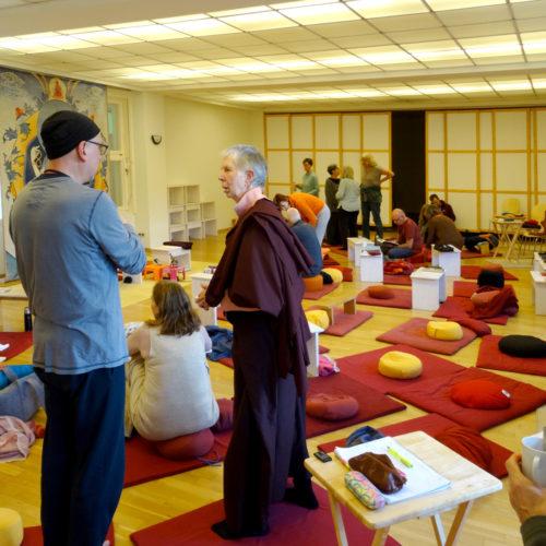 Lama Tsony Course in Möhra – Break talk with the teacher