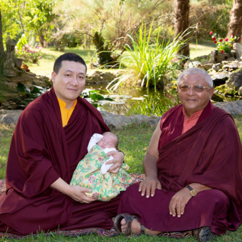 HUGE BLISS – 17. Karmapa Thaye Dorje with his son and Jigme Rinpoche (Photo © Thule G. Jug)